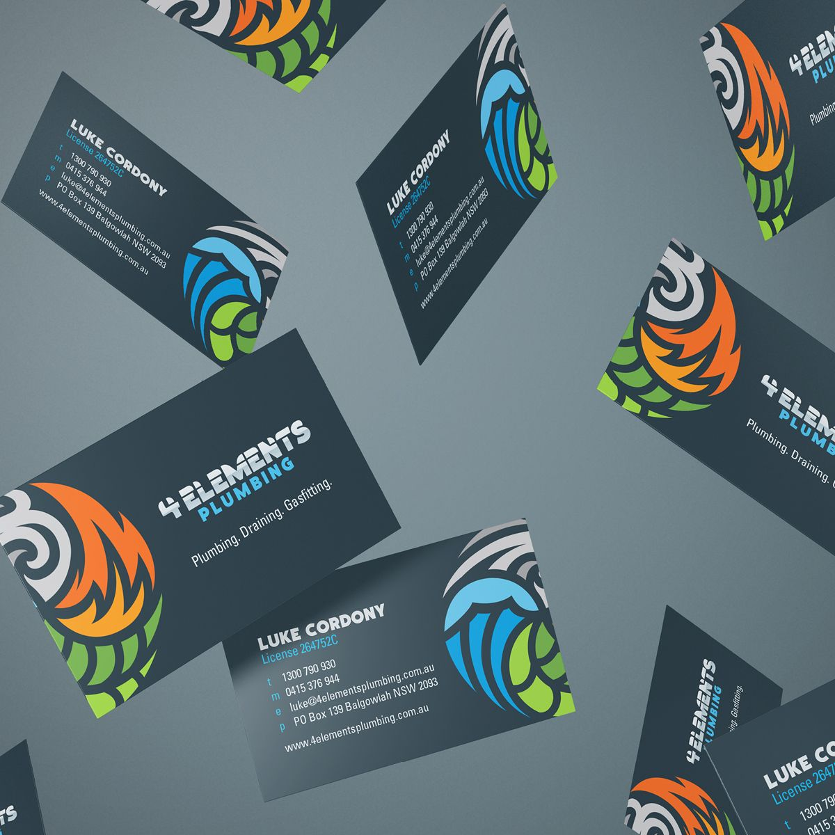 4-Elements-Plumbing-Business-cards