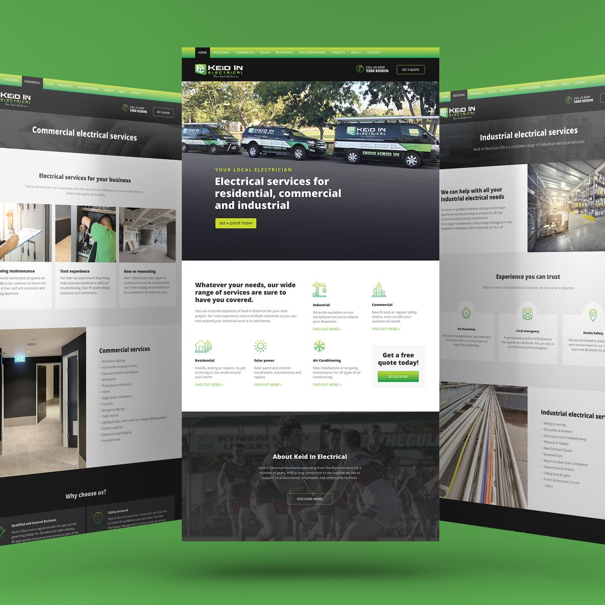 Keid-In-Electrical-website-screens