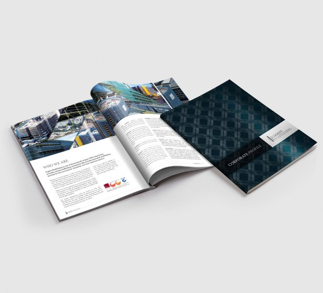 Cogent Scaffolding brochure is another example of logo, graphic and website design for electricians plumbers and all trades