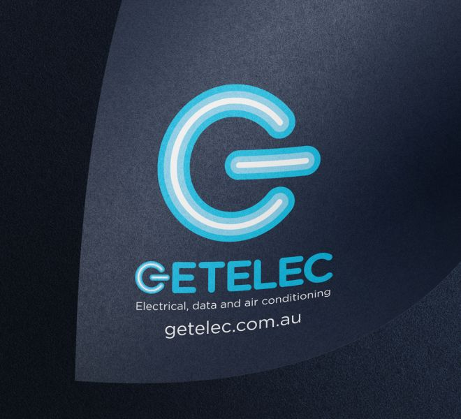 Getelec logo design is another example of logo, graphic and website design for electricians plumbers and all trades